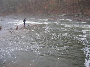 Wading in Tohickon Creek